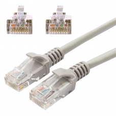 Кабель патч-корд UTP 5e категория, RJ-45, 10 м, CABLEXPERT, для подключения по локальной сети LAN, PP12-10M