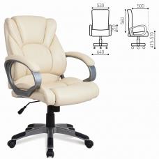 Кресло офисное BRABIX Eldorado EX-504, экокожа, бежевое, 531167