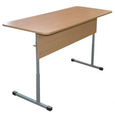Стол-парта 2-местный регулируемый Бюджет, 1200х500х640-760 мм, рост 4-6, серый каркас, ЛДСП бук