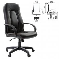 Кресло офисное BRABIX Strike EX-525, экокожа черная, 531382