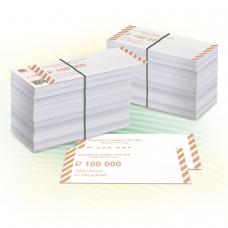 Накладки для упаковки корешков банкнот, комплект 2000 шт., номинал 100 руб.