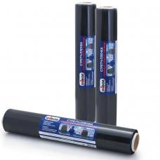 Стрейч-пленка для ручной упаковки, 45 см х 100 м, 23 мкм, 0,95 кг - нетто, черная, UNIBOB, евроупаковка