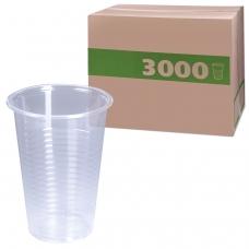Одноразовые стаканы 200 мл, КОМПЛЕКТ 3000 шт. 30 упаковок по 100 шт., прозрачные, ПП, холодное/горячее