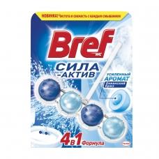 Освежитель WC для туалета твердый BREF, 50 г, Бреф Сила-Актив, Океанский Бриз