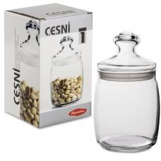 Банка с крышкой Cesni для сыпучих продуктов, 1 шт., 940 мл, стекло, PASABAHCE, 97560