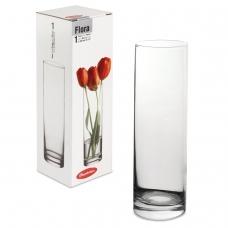 Ваза Flora, колба, высота 26,5 см, стекло, PASABAHCE, 43767