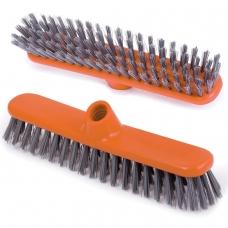 Щетка для уборки скраббер, ширина 27 см, щетина 3,5 см, пластиковая, еврорезьба, IDEA Шробер, М 5108