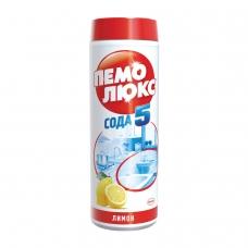Чистящее средство 480 г, ПЕМОЛЮКС Сода-5, Лимон, порошок