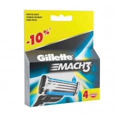 Сменные кассеты для бритья 4 шт., GILLETTE Жиллет Mach3, для мужчин