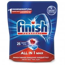 Таблетки для мытья посуды в посудомоечных машинах 25 шт. FINISH Финиш All in 1, 3025693