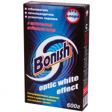Средство для удаления пятен 600 г, BONISH Бониш Optic white effect, без хлора