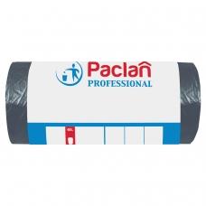 Мешки для мусора 60 л, черные, в рулоне 50 шт., ПНД, 6,2 мкм, 60х80 см, PACLAN Professional, 40401