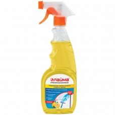Средство для мытья стекол и зеркал 500 мл, ЛАЙМА PROFESSIONAL Лимон, распылитель, 604652
