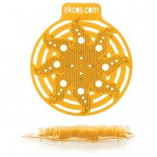 Коврики-вставки для писсуара, ЭКОС POWER-SCREEN, на 30 дней каждый, комплект 2 шт., аромат Апельсин, цвет оранжевый, PWR-4O