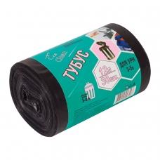 Мешки для мусора 12 л, черные, в рулоне 30 шт., ПНД, 6 мкм, 32х55 см, для урн, d - 20, h - 26, КОНЦЕПЦИЯ БЫТА Tubus, 3255