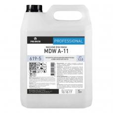 Средство для мытья посуды в посудомоечных машинах 5 л, PRO-BRITE MDW A-11, щелочное, концентрат, 619-5