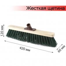 Щетка для уборки техническая, ширина 40 см, жесткая щетина 8 см, дерево, еврорезьба, ЛАЙМА EXPERT, Арт. 56 с/в