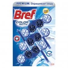 Освежитель WC для туалета твердый 3х50 г BREF Бреф Active, С хлор-компонентом, 2393778