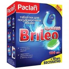Таблетки для мытья посуды в посудомоечных машинах 110шт PACLAN Brileo Classic, ш/к 86808, 419260