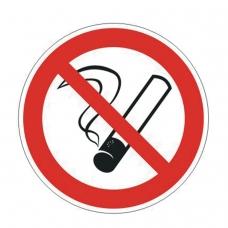 Знак запрещающий Запрещается курить, круг, диаметр 200 мм, самоклейка, 610001/Р 35