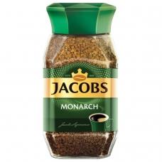 Кофе растворимый JACOBS MONARCH, сублимированный, 190 г, в стеклянной банке, 11233