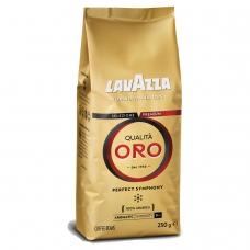 Кофе в зернах LAVAZZA Лавацца Qualita Oro, натуральный, 250 г, вакуумная упаковка, 2051