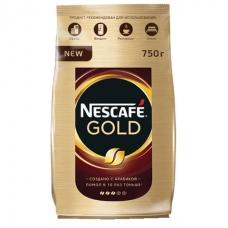 Кофе молотый в растворимом NESCAFE Нескафе Gold, сублимированный, 750 г, мягкая упаковка, 12146905