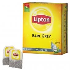 Чай LIPTON Липтон Earl Grey, черный, 100 пакетиков с ярлычками по 2 г, 67106269