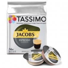 Капсулы для кофемашин TASSIMO JACOBS Espresso, натуральный кофе 16 шт. х 8 г