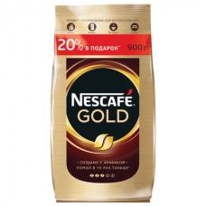 Кофе молотый в растворимом NESCAFE Нескафе Gold, сублимированный, 900 г, мягкая упаковка, 12232003