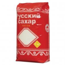 Сахар-песок Русский, 1 кг, полиэтиленовая упаковка