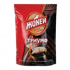 Кофе растворимый ЖОКЕЙ Триумф, сублимированный, 450 г, мягкая упаковка, 0917-08