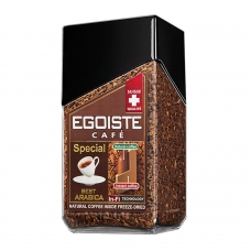 Кофе молотый в растворимом EGOISTE Special, натуральный, 100 г, 100% арабика, стеклянная банка, 8606