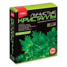 Набор для изготовления лучистых кристаллов Зелёный кристалл, реагент, краситель, основа, LORI, Лк-003