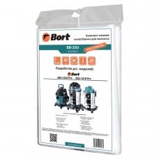 Мешки для сбора пыли к пылесосам BSS-1220-PRO, BSS-1518-PRO, объем 20 л, комплект 5 шт., BORT BB-20U, 91275875